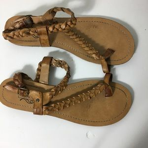 Unlisted Brown 10 Rope Ankle Strap Open toe Sandal